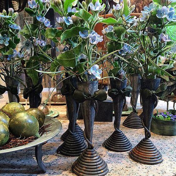 Blue milkweed vs green eggs. #tageandersen #Copenhagen #flowers #fiori #blumen #påsk #påske #easter #spring #forår #vår: