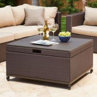 Inspiration for patio coffee table with storage