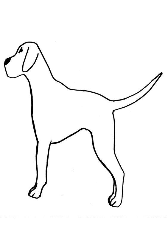Dog-Template-For-Kids. Fingerprint black dots on Dalmation