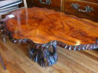 Classic Style Solid Rustic Tree Trunk Coffee Table Design ...
