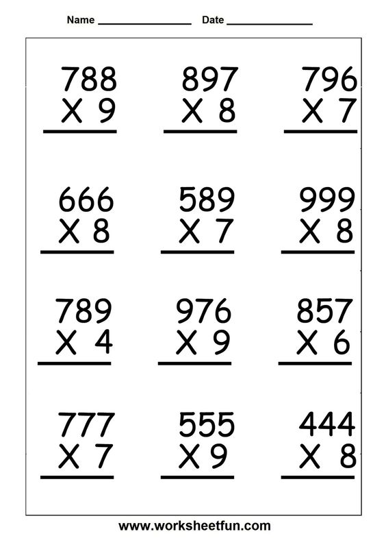 Math, Multiplication and Multiplication worksheets on