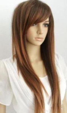 long haircuts with side bangs and layers for straight hair stuff to pinterest long