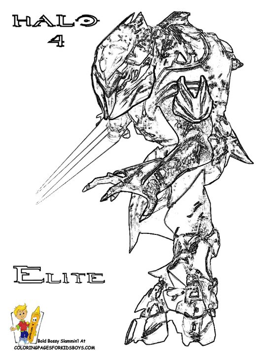 Halo Elite Coloring Pages Google Search Recipes To