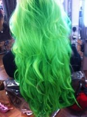 bright green hair - requires bravery