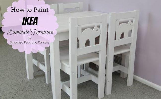 How To Paint Ikea Laminate Furniture Tutorial 1 Wipe Down
