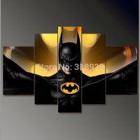 Framed Hand Painted 5 panels Batman movie group oil ...