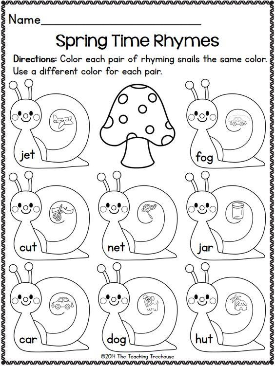 Spring Kindergarten Pack ~ Print & Go, No Prep ~ CCSS