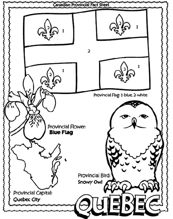 Quebec, Coloring pages and Coloring on Pinterest