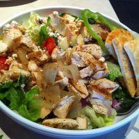 ZOE'S KITCHEN TOSSED GREEK SALAD -- lettuce, cucumbers ...