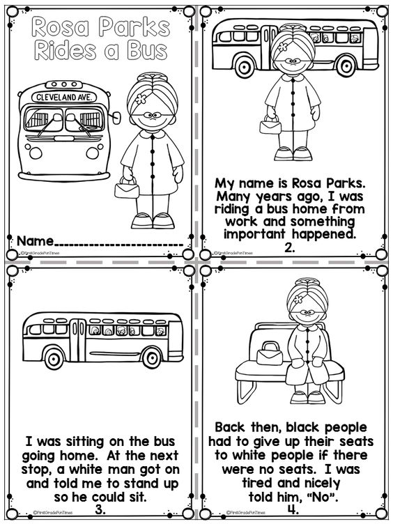 Rosa parks, Black history month and Writing activities on