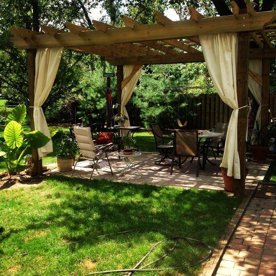 Garden Design Comfortable Pergolas Arbors And Garden Structures
