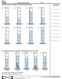 Free Graduated Cylinder Volume Worksheets - download and ...