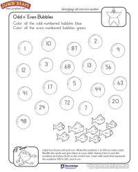 """Odd n Even Bubbles""  2nd Grade Math Worksheet on Odd"