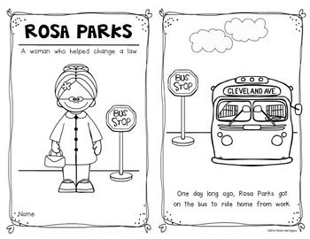 Rosa Parks {Emergent Reader} for Kindergarten and First