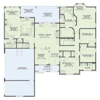 One story house plans hearth room - Home design and style