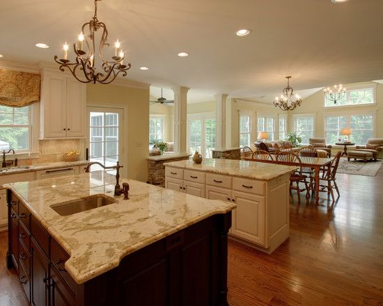 Small Open Plan Kitchen Living Room Design Pictures