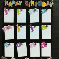 Happy Birthday chart for my classroom