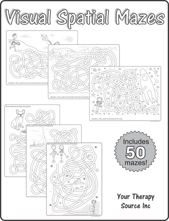 Visual Spatial Mazes from Your Therapy Source. Pinned by