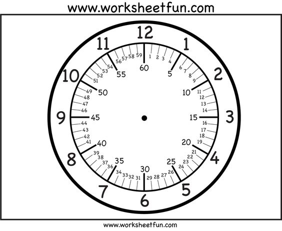 CLOCK FACES~ Free printable clock faces with variations