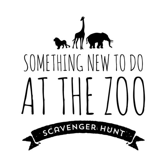 Zoo scavenger hunts, The o'jays and Zoos on Pinterest