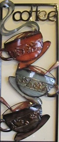 Hot coffee, Metal art and Kitchen walls on Pinterest