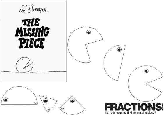 Fractions, The missing and Shel silverstein on Pinterest