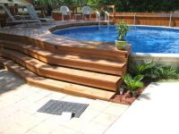 backyard designs with above ground pools | Our Backyard ...