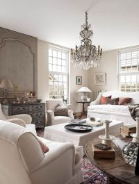 Living rooms, Chandeliers and Gray interior on Pinterest