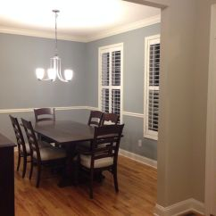 Rustic Paint Colors For Living Rooms With Fireplaces And Tv Boothbay Gray (benjamin Moore) The Dining Room ...