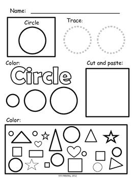 Super Simple Shapes: Mini-Task Worksheets, 2D Shapes {PreK