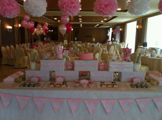 Diseo y decoracion de eventos Mesa buffet dulce para