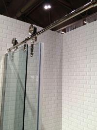 Barn door style shower doors   diy   Pinterest   Shower ...