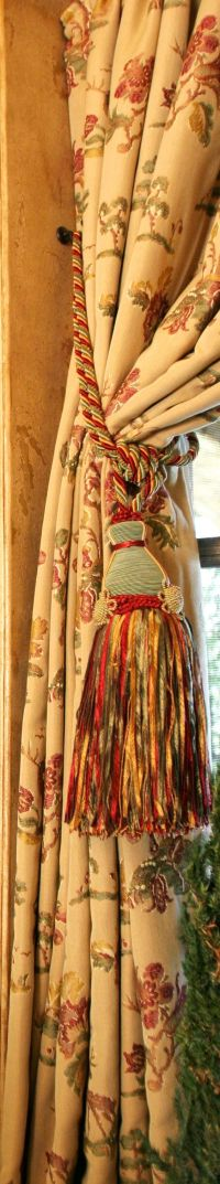 Curtains, Old world and Tassels on Pinterest
