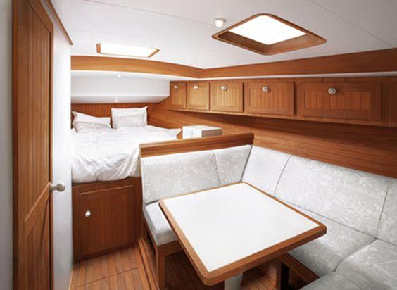 Beautiful-wooden-cabin-deisgn-of-boat-interior