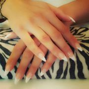 white tips pointed nails