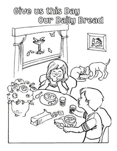 Our Father Catholic Coloring Page Coloring Pages