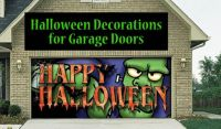 Decorate your garage door with a scary Halloween scene ...