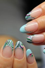 water marbling shape and french