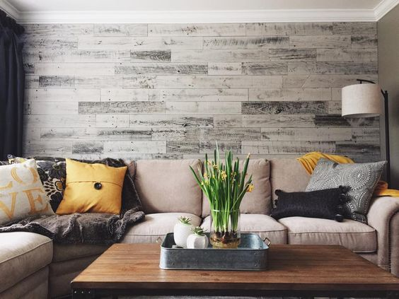 Stickwood feature wall