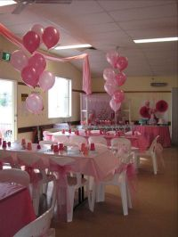 Room set up for pink baby shower   Baby Shower Decorations ...