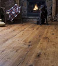 wide plank rustic flooring
