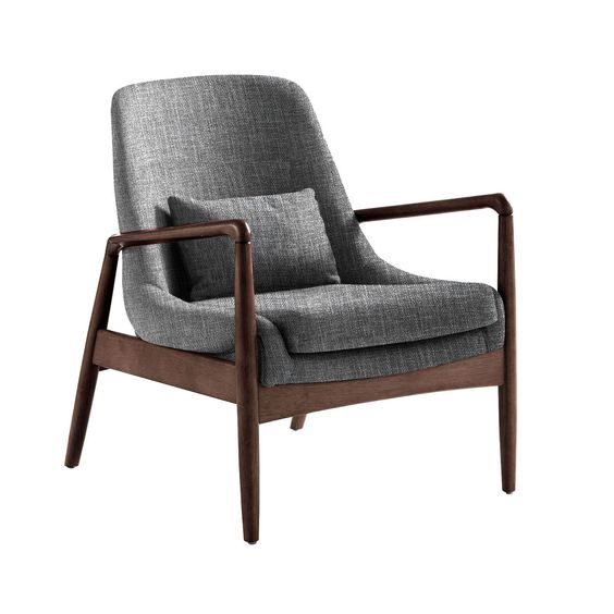 Baxton Studio Dixon Midcentury Modern Grey Fabric