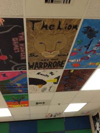 Painted ceiling tiles... | Classroom Ideas | Pinterest ...