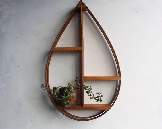 Large Vintage Mid Century Modern Danish Bent Wood Teardrop