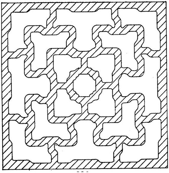 Coloring pages, Free coloring and Geometric shapes on