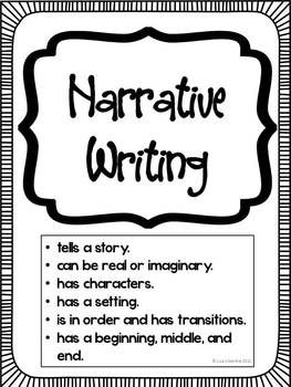 Freebie! Writing Posters: Informative, Narrative