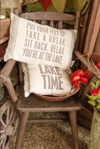 """Flour Sack Pillows for your Lake House 