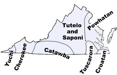 Map of Virginia tribes in the past...links to a lot of