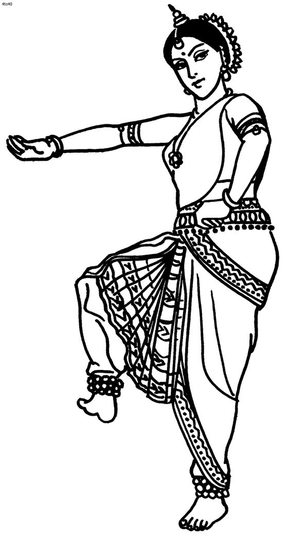 Great website with TONS of Indian folk dance coloring