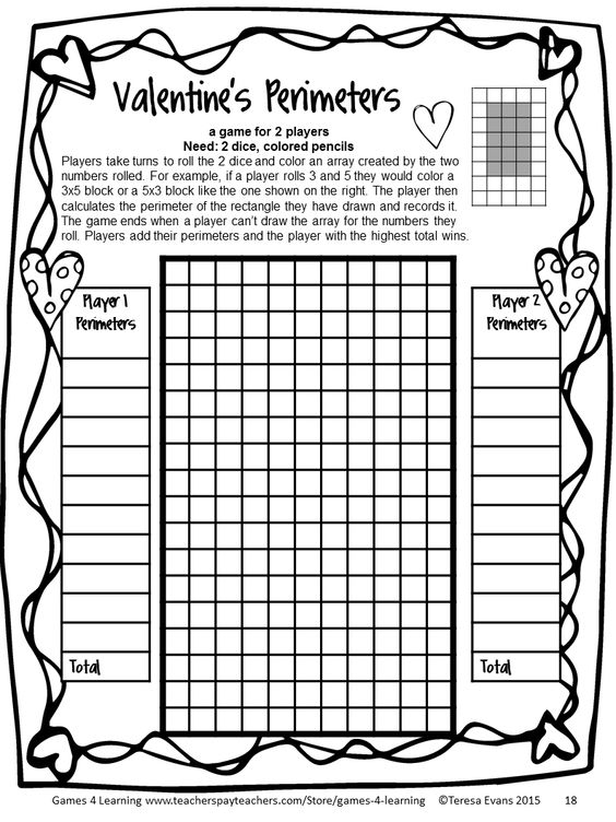 Valentine's Day Activities: Valentine's Day Math Games